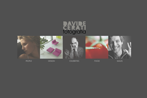davide cerati fotografia website webdesign flash