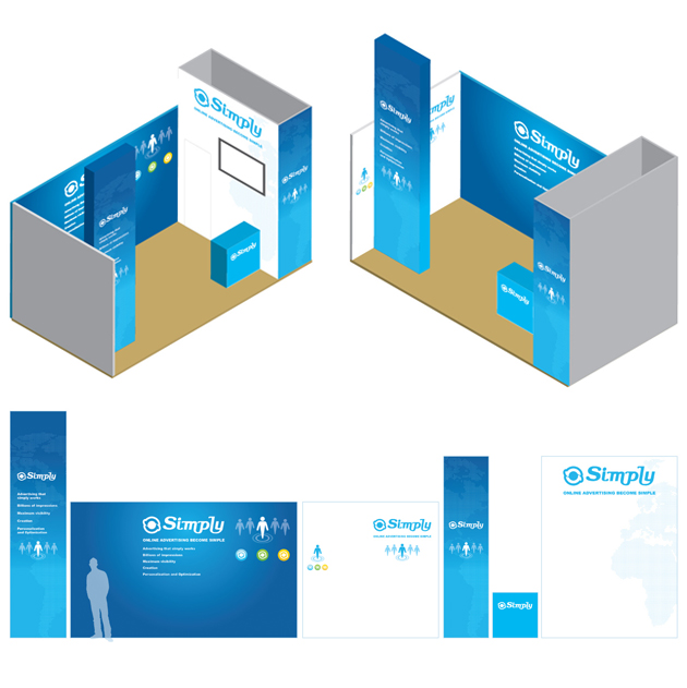 graphic design allestimento stand simply register