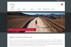 Website Pigreco Corporate Finance S.r.l.