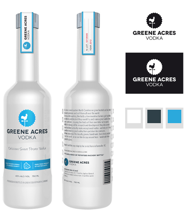vodka bottle design pack packaging proposal